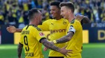 Reus scores twice as Dortmund crush Leverkusen