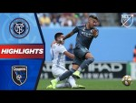 NYCFC vs. San Jose Earthquakes | A First MLS Goal! | HIGHLIGHTS