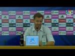 Rueda de prensa de  Manuel Mosquera tras el Real Zaragoza vs Extremadura UD (3-1)