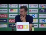 Rueda de prensa de  Aritz López Garai tras el Elche CF vs CD Tenerife (1-1)