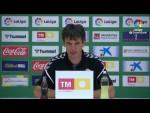 Rueda de prensa de  Pacheta tras el Elche CF vs CD Tenerife (1-1)
