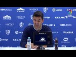 Rueda de prensa de Míchel tras el SD Huesca vs Real Racing Club (1-1)