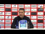 Rueda de prensa de Luis Carrión tras el CD Numancia vs Real Zaragoza (0-1)