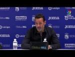 Rueda de prensa de Baldomero Hermoso tras el CF Fuenlabrada vs Real Zaragoza (2-1)