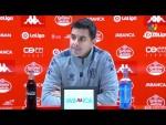 Rueda de prensa de  Míchel tras el CD Lugo vs SD Huesca (3-2)
