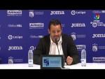 Rueda de prensa de  Baldomero Hermoso tras el CF Fuenlabrada vs Albacete BP (0-1)