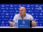 Rueda de prensa de Luis César tras el RC Deportivo vs Málaga CF (0-2)