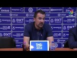 Rueda de prensa de Aritz López Garai tras el CD Tenerife vs Real Racing Club (3-3)