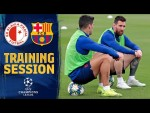 First workout to prepare the Champions League game against Slavia Praga