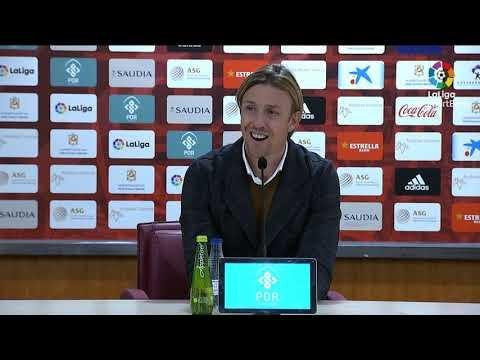 Rueda de prensa de Guti tras el UD Almería vs Real Zaragoza (1-1)