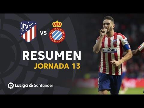 Resumen de Atlético de Madrid vs RCD Espanyol (3-1)