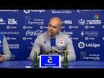 Rueda de prensa de  Luis César Sampedro tras el Extremadura UD vs RC Deportivo (2-0)