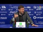 Rueda de prensa de  Manuel Mosquera tras el Extremadura UD vs RC Deportivo (2-0)