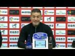 Rueda de prensa de  Luis Carrión tras el CD Numancia vs Rayo Vallecano (2-2)