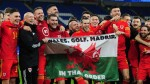 Gareth Bale, Wales teammates hold up 'Wales, Golf, Madrid' banner after qualifying for Euro 2020