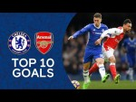 Essien Screamer, Hazard's Incredible Solo Goal   Top 10 Goals Against Arsenal   Chelsea Tops