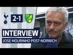 INTERVIEW | JOSE MOURINHO ON NORWICH VICTORY | Spurs 2-1 Norwich City