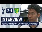 INTERVIEW   HEUNG-MIN SON ON NORWICH WINNER   Spurs 2-1 Norwich City