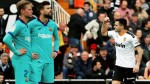 Setien's Barcelona outclassed by Valencia as Maxi Gomez stars