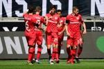 Havertz brace takes Leverkusen third in front of cardboard cutout fans