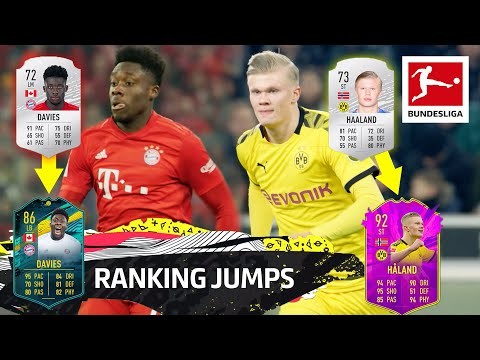 Top 10 Ranking Jumps - Haaland, Davies, Sargent & More   EA SPORTS FIFA 20