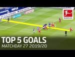 Top 5 Goals on Matchday 27 - Thuram, Goretzka, Cunha & More