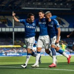 James scores first Prem goal in Everton rout