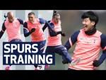 SHOOTING DRILLS AT HOTSPUR WAY   Everton v Spurs   Premier League