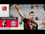 40 Goals! Lewandowski Equals Müller's Record | SC Freiburg - FC Bayern München | 2-2 | All Goals