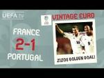 FRANCE 2-1 PORTUGAL, EURO 2000   VINTAGE EURO