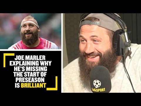 """I HAVE TAKEN DELAYED PATERNITY LEAVE!""👶🤣 Joe Marler explains why he's missed the start of preseason"
