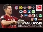 Robert Lewandowski | Best 18 Goals vs. 18 Clubs