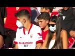 Calentamiento Sevilla FC vs RCD Espanyol de Barcelona