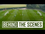 Sharp finishing and superb saves | Inside Arsenal Training - drone and 360 camera special!