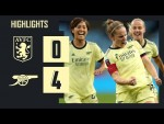HIGHLIGHTS | Aston Villa vs Arsenal (0-4) | Little with her 150th goal, McCabe from 40 yards!